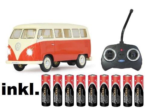 BUSDUGA RC ferngesteuert VW Bus Bulli 1962 T1 - ROT - 1:18 RTR , komplett-Set , Licht inkl. Fernsteuerung - DER Klassiker !