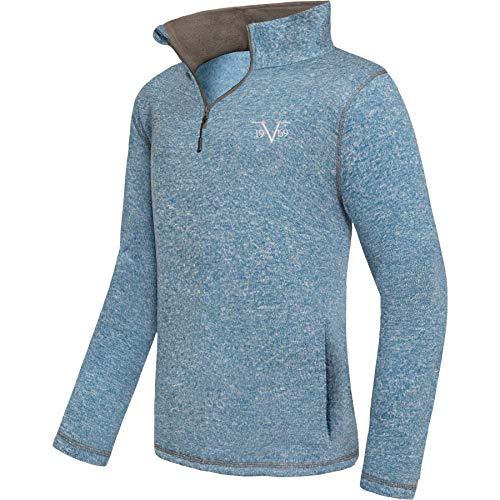 Versace 1969 Abbigliamento Sportivo SRL 19V69 fleece tröja män V115 av (Model: C574 – herr, blå net; storlek: XL) FBA