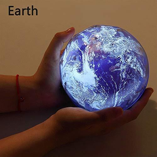 Ciel étoilé Night Light Planet Magic Projecteur Terre Univers LED Lampe Coloré Rotation clignotant Star Enfants Bébé Cadeau De Noël (Earth,Rotate)