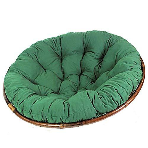 Wisząca poduszka na krzesło, poduszka na krzesło, zagęszczona okrągła poduszka na krzesło, poduszka do huśtawki na bujak Powiesić hamak ciemnozielony 110cm