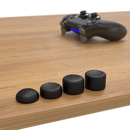 innoGadgets Aufsätze kompatibel mit PS4 Controller | 8er Set Schutzkappen aus Silikon für Thumbsticks | Mehr Spielgefühl | Schützen Analogsticks vor Abnutzung | Leicht zu reinigen | Schwarz