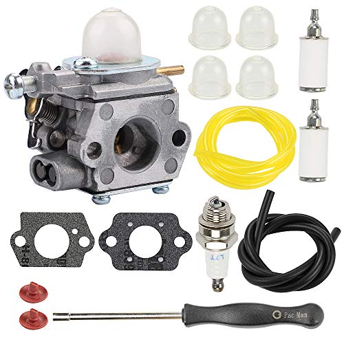 Mckin 753-06190 WT-973 Carburetor for MTD Troy Bilt TB21EC TB22 TB22EC TB32EC TB42BC TB80EC TB2040XP Bolens BL110 BL160 M2500 M2510 RM2510 RM2520 RM2560 String Trimmer Weed Eater with Tune Up Kit