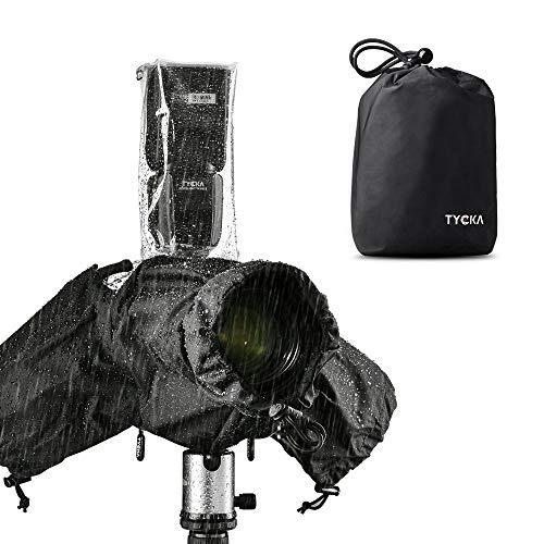 Tycka Regenschutz für Kameras, Regenschutzhülle saugfähiges 10er-Pack-Papier, Regenmantel für DSLR (für ein Objektiv mit Gesamtlänge und Kamerahaube bis 260 mm)