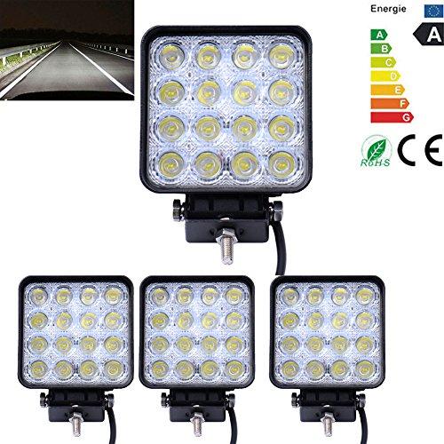 4x 48W espacio LED trabajo luz auto notebook Faro Luz niebla iluminación exterior para Offroad Car Jeep Boots SUV Camiones IP67