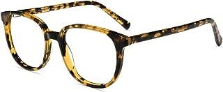 Firmoo Blue Light Blocking Glasses for Computer Use, Round Tortoise Shell Glasses for Women/Men