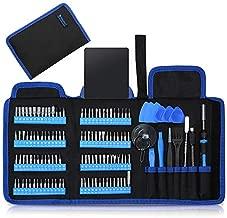 Precision Screwdriver Set, Kingsdun 128pcs Repair Tool Kit with Magnetic Multi-Bit Nut Drivers for Repair Phone, iPhone, iPad, Watch, Tablet, PC, Eyeglass, Macbook, Computer, Xbox, Small Electronics