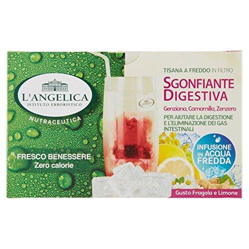 L\'Angelica Tisana a Freddo Sgonfiante Digestiva con Fragola e Limone - 33 gr