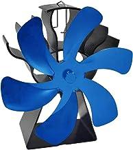 LOVIVER Ventilador de Estufa de leña accionado por Calor con 6 aspas, Chimenea silenciosa Ventilador ecológico de leña para el hogar Distribución de Calor de - Azul