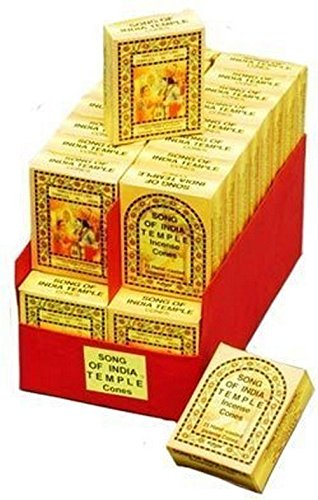 Song of India India Temple Incense - Cones - 5 Boxes(25/bx)