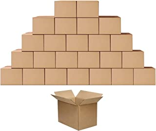 Shipping Cardboard Boxes Mailers 10x7x5 inches Small Packing Corrugated Packaging Moving Kraft Storage Mailing Box, Pack of 25
