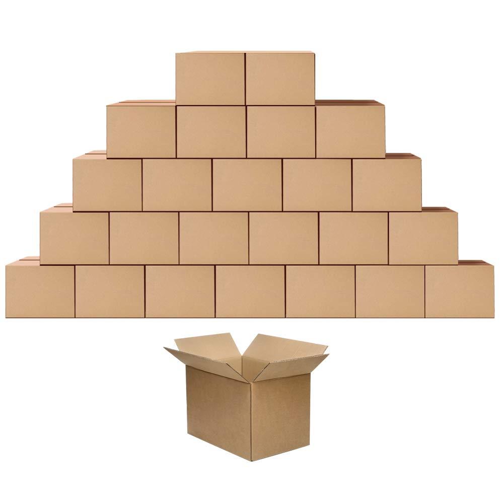 Eono by Amazon Cajas de cartón para mudanzas, almacenaje o envíos 25,4 x 17,8 x 12,7 cm, paquete de 25: Amazon.es: Hogar