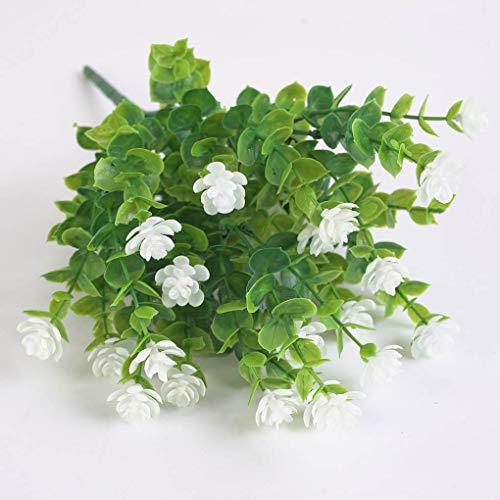 Plastikblumen-Bouquet Home Office Künstliche Blumendekor Hochzeit Garten Gefälschte Blume, Weiß - 5
