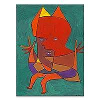 抽象ジオメトリ肖像画ポスターPaul Kleeクラシック壁アートパネルプリントカラフルシュルレアリスムキャンバス絵画インテリア有名なアートパネルワーク写真リビング ルーム部屋装飾画40x55cmいいえフレーム