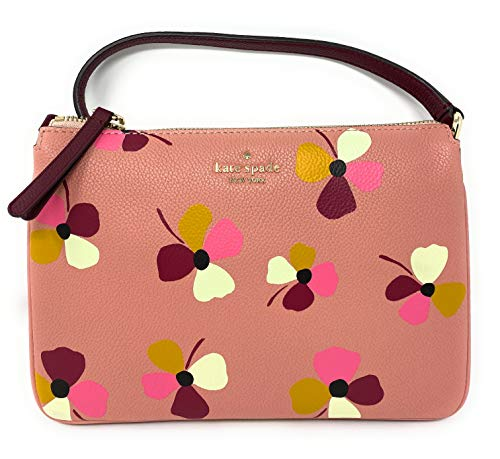 "Kate Spade New York pebble leather with gold tone hardware Raised Kate Spade New York name and logo on front Crossbody, shoulder strap with adjustable drop of 19-23"" Interior features Spade logo fabric lining; three interior compartments Approximate ..."