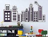 Ville Bat Logo thème Stickers muraux garçons Enfants Chambre Chambre Salle d'activité Vinyle décoration de la Maison Bande...