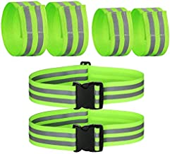 Inboat 6 Pcs Reflective Bands for Arm, Ankle, Leg and Wrist. High Visibility Reflective Gear for Running, Night Walking and Cycling. Safety Reflector Straps. Very Large Reflective Surface Area