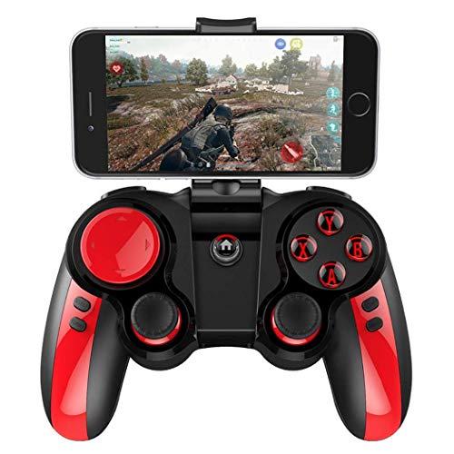 QCHEA Controlador de Gamepad, Gamepad inalámbrico Bluetooth, Controlador de Juegos for teléfono, Joystick, Excelente Sentido de Uso y fácil operación, Compatible con Android y iOS