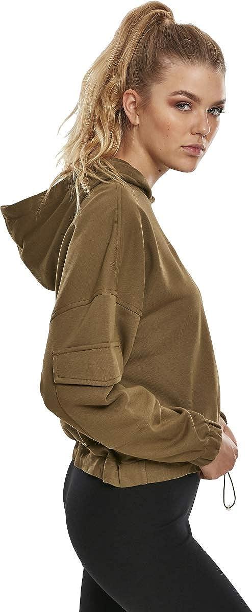 Urban Classics Ladies Short Worker Hoody Sweatshirt à Capuche Femme Summerolive
