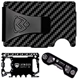 Armour Supply Co. RFID Blocking Wallet For Men With Money Clip, Multitool & Key Holder (Carbon Fiber)