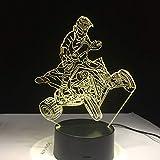 Veilleuse de Couleur de Course de vélo de Montagne à Quatre Roues pour des Cadeaux d'équitation de Motocross d'anniversaire pour Enfants