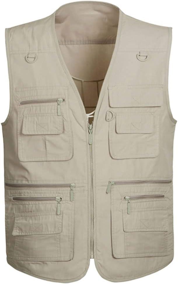 Fishing Vests Be super welcome for Men Max 83% OFF Vest Multi Pocket Outerwear S