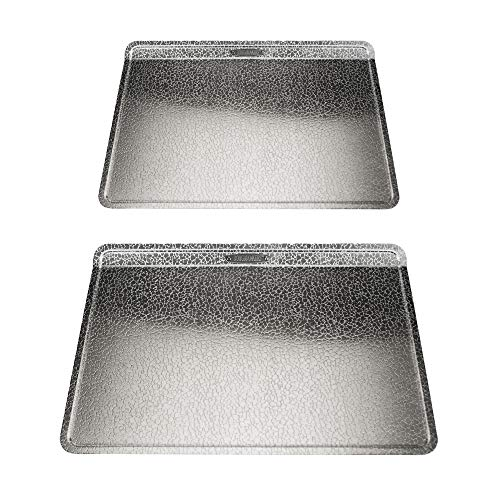 Doughmakers Premium Quality Bakeware Set of two Baking Sheets, 10 x 14-Inch Biscuit and 14 x 17.5-Inch Cookie, Silver