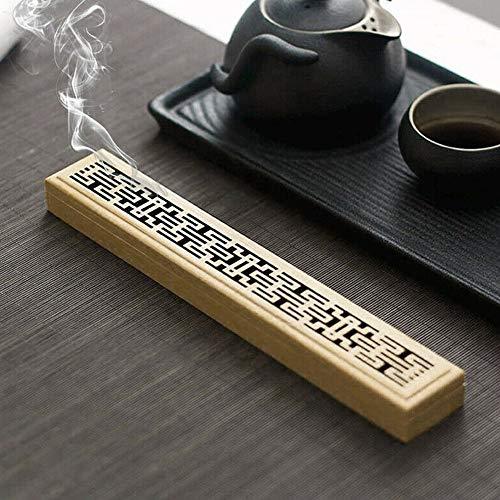 GQJ Räucherstäbchen Halter Räucherbox Räucherkiste Räucherstäbchenhalter aus Bambus Holz für Wohnzimmer, Büro, Yoga, Schlafzimmer