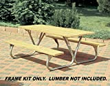 Pilot Rock Heavy Duty Steel Picnic Table Frames Model BTUG-FR - Made in The USA -