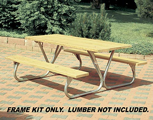 Pilot Rock Heavy Duty Steel Picnic Table Frames Model BTUGFR  Made in The USA