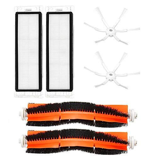 WYHM Cepillo De Aspiradora Filtro y Kits de Cepillo Lateral para Xiaomi Robot Accesorios de aspiradora (Color : A)