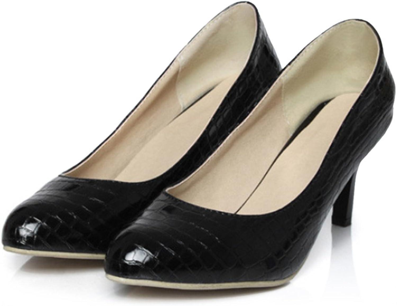 Knurling PU Low-cut Thin shoes Plus Size black 39