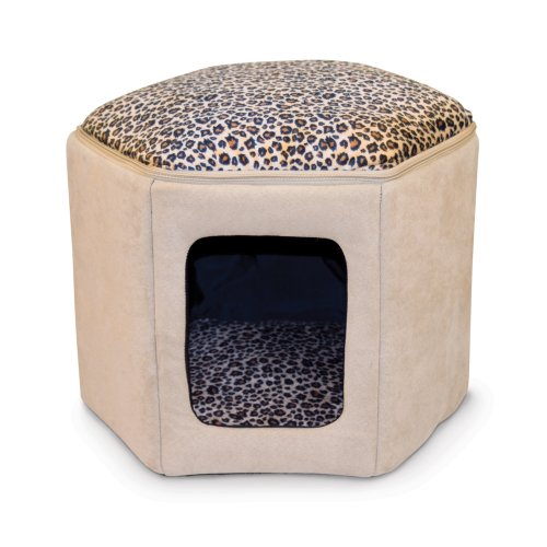 K&H Pet Products Kitty Sleephouse (Unheated) Tan/Leopard 12' x 17'