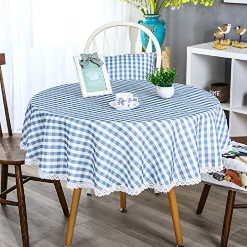YOUYUANF Mantel Individual Rectangular de plástico antiincrustante Mantel Redondo antiincrustante Mantel Lavable Mantel Moderno para decoración de mesa110cm