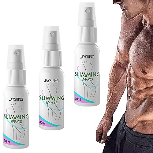 Spray de reducción de ginecomastia para celulitis, spray para quemar grasa para el endurecimiento acelerador de los músculos de los hombres, adelgaza eficazmente el área del pecho de los hombres (3 pieza)