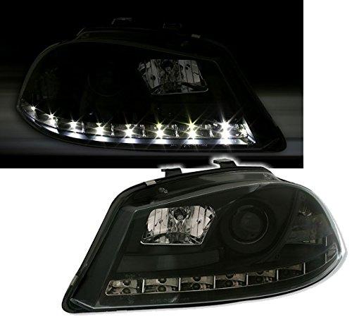 AD Tuning Scheinwerfer Set mit LED Tagfahrlicht Optik in Schwarz