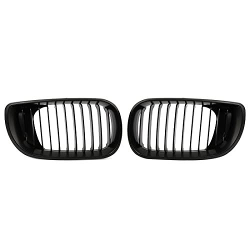 uxcell Matte Black Front Hood Kidney Grille Grill Fit For 02-05 BMW E46 4D