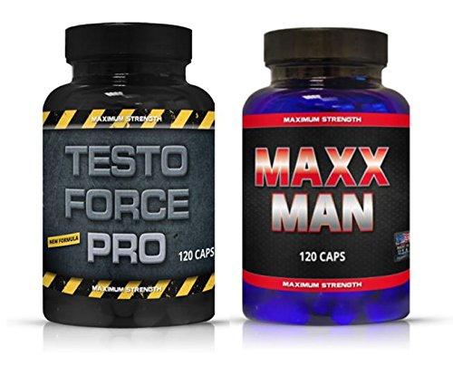 Testo Force Pro, MaxxMan 240 Kapseln Original Pre Workout Testo Booster Preworkout Hochdosiert Für Bodybuilder Männer Hohe Reinheit Qualität Marken Nahrungsergänzungsmittel Pulver