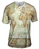 Yizzam- Ash World Map -Tshirt- Mens Shirt-Large