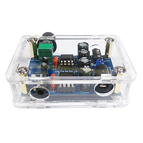 KKmoon 47 NE5532 DIY Amplifier Kit 3.5mm Kopfhörerverstärker mit Drehknopf für Lautstärkeregelung HiFi Verstärker Bausatz mit Transparentem Gehäuse DC9V-18V