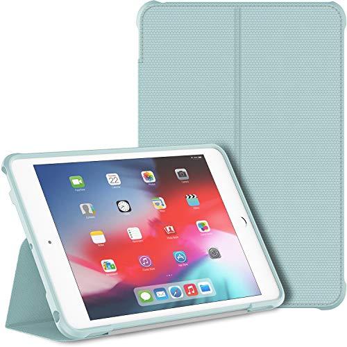 JETech Hülle für iPad Mini 5 und iPad Mini 4 (2019/2015 Modell, 5./4. Generation), Doppelfalzständer mit stoßsicherer TPU Rückseite, Auto Schlafen/Wachen, Hellblau
