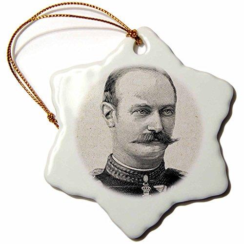3dRose' Christian X, King of Denmark and Iceland, Engraving-Hi13 Pri0316-Prisma Snowflake Ornament, Multi-Colour, 3-Inch