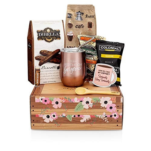 Birthday Box Coffee Gift Basket - A Birthday Gift Basket with Coffee Gifts for Coffee Lovers in Your...