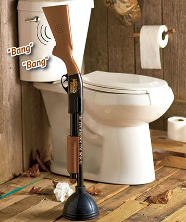 Plastic and Rubber Real Working Plunger Makes Gunshot Sounds The Redneck Plunger