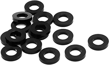 uxcell 15pcs 1mm Thickness M3 Aluminum Alloy Flat Fender Screw Washer Black - coolthings.us