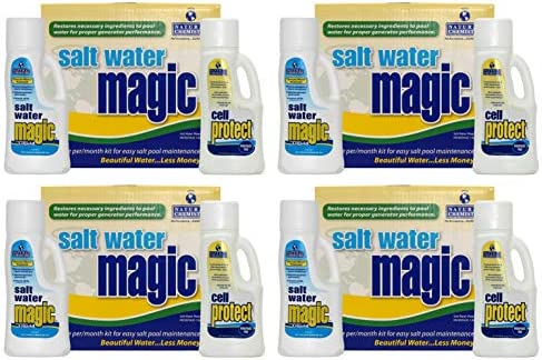 4 Natural Chemistry 07404 Spa Swimming Pool Water Magic Monthly Chemical Kits product image