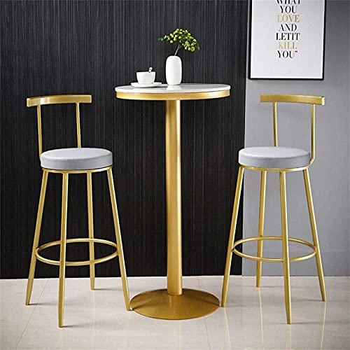 Runt ståbord, bänkskiva i konstgjord marmor och metallbas – med kompletta tillbehör, lämplig för bar mjölk tebutiker