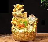 YMXX® sala de estar fuente de la suerte fuente de decoración de escritorio humidificador feng shui accesorios de decoración del hogar adornos de oro-1