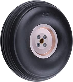Hobbypark Rubber Tire & Wheel for RC Airplane Replacement Parts (4.5