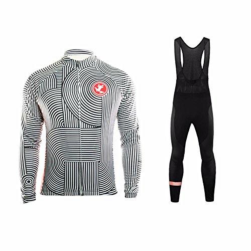 UGLY FROG HIWLJT11 Design Moda Maglia MTB Jerseys per Uomo Abbigliamento Invernale: Lunghe Maniche Tuta + Pantaloni Lunghi di Ciclismo-Completo Set
