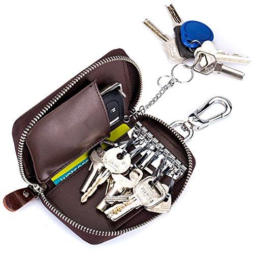 Esdrem Unisex coche caso clave Holder 8ganchos llaves